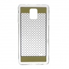 Protective PC Back Case Cover for Samsung Galaxy Note 4 - Transparent + Golden