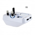 Car-Shaped USB Travel Power Adapter Converter for Cellphone - White