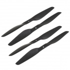 7055 Carbon Fiber CW / CCW Propeller Blades for Mini Quadcopter - Black (2 Pairs)