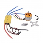 A2212 1000KV Brushless Motor + 0A ESC for R/C Multirotor FPV Multicopter - Yellow + Silver