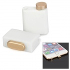 Earphone Jack & Charging Port Anti-dust Plug Set for IPHONE 6 / IPHONE 6 PLUS - White + Golden