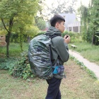 Outdoor Water-Resistant Nylon Rain / Dust Cover for Shoulders Bag Backpack - Camouflage (35L)