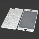 Rhombus Style Protective Glass Screen Protector + Back Protector Sticker for IPHONE 6 PLUS