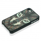 Wolf Pattern Protective Case for IPHONE 4 / 4S - Black + Multi-Color