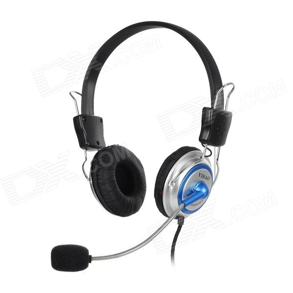 YIHAO Stereo VOIP and Gaming Headset sades spirit wolf usb 7 1 stereo gaming headphones with microphone led for computer laptop bass casque pc gamer wired headset