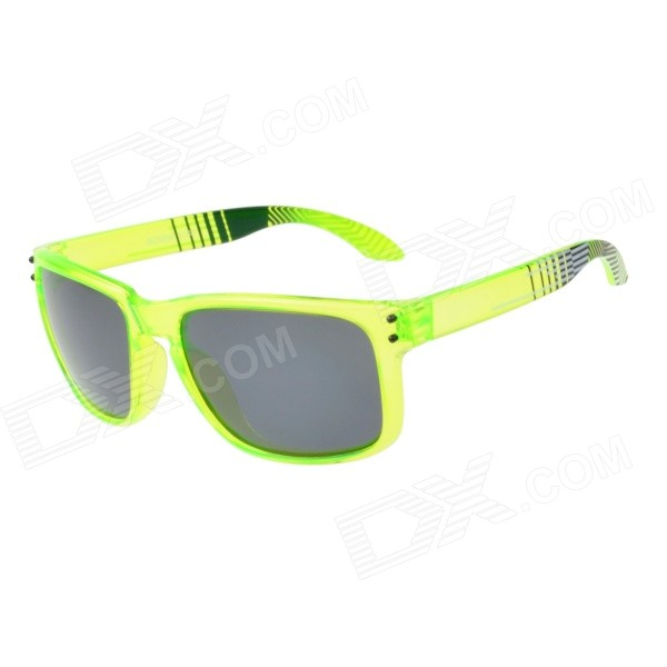 RS9000C13 Stylish UV400 Protection PC Sunglasses - Transparent Green + Grey