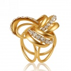 eQute XPEW29C3 Fashionable Ring-in-Ring Style Scarf Ring / Brooch - Rose Gold