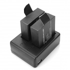 USB Dual-Slot Battery Charging Dock + 2 x 900mAh Li-ion Batteries for SJ4000/SJ4000 Wi-Fi