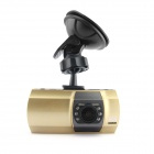 "D&Z D818 2.7"" TFT HD 1080P CMOS 170' Wide-Angle 6-LED Car DVR Recorder Camcorder - Gold + Black"