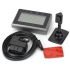 "Y01 3.5"" HUD Head-up Display System Speedometer / OBD II Cable - Black"