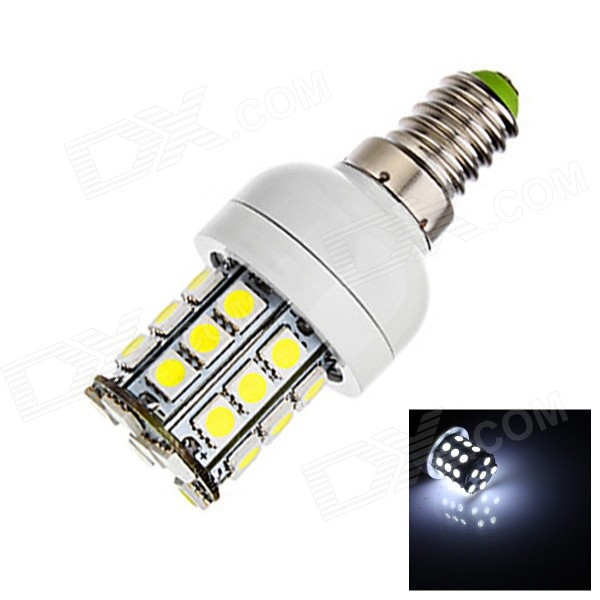 FU2-001 E14 3W LED Bulb Cool White Light 260lm SMD 5050 - White (220V)