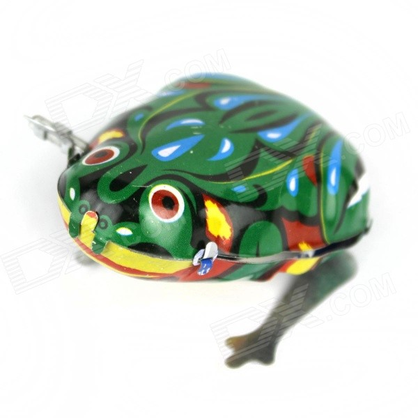 Childhood Memories Retro Creative Toy Iron Spring Frog - Green + WhiteOther Toys<br>Form  ColorGreen + WhiteMaterialStainless steelQuantity1 DX.PCM.Model.AttributeModel.UnitSuitable Age 8-11 years,12-15 years,Grown upsPacking List1 x Frog<br>
