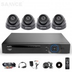 SANNCE 4CH AHD 960H HDMI DVR System with 4 x 800TVL Indoor Day/Night Dome Cameras (NO HDD)