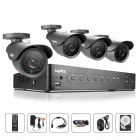 SANNCE 8CH AHD 960H HDMI DVR System with 4 x 800TVL Outdoor Day/Night Bullet Cameras (With1TB HDD)