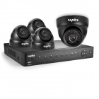 SANNCE 8CH AHD 960H HDMI DVR System with 4 x 800TVL Indoor Day / Night Dome Cameras (No HDD)
