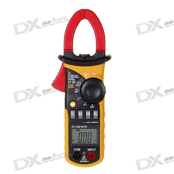 "1.5"" LCD Handheld Auto-Range Digital Clamp Multimeter (Voltage + Current + Resistance / 3*AAA)"