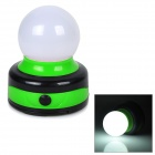 50lm 5000K White LED Outdoor Camping Tent Lantern / Table Lamp w/ Hook - Black + Green (3 x AA)