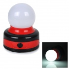 50lm 5000K White Light LED Outdoor Camping Tent Lantern / Table Lamp w/ Hook - Black + Red (3 x AA)