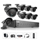 SANNCE 8-CH AHD 960H DVR System & 8 x 800TVL Outdoor Day / Night Cameras (No HDD, NTSC)