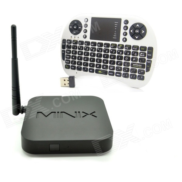 MINIX NEO Z64 Windows 10 mini PC con teclado mini inglés (blanco)