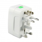 Global Universal Travel 6A US / AU / EU / UK Power Adapter Converter Plug - White (100~240V)