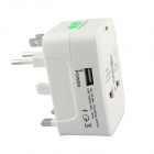 Global Universal Travel 6A Power Adapter Converter Plug - White