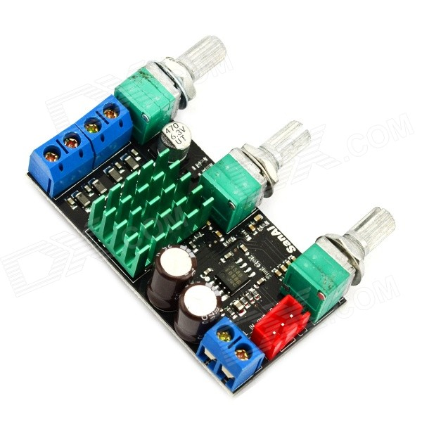 Jtron Stereo 2 x 50W Hi-Fi High-Power Digital Amplifier Board - Black