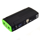 N-03 14000mAh Dual-USB Car Jump Starter w/ LED Torch - Black + Green