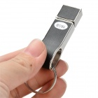 USB-6 Whistle Style 16GB USB 2.0 Flash Drive w/ Keyring - Black+Silver
