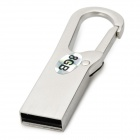USB-KEY Zinc Alloy Keychain Style USB 2.0 Flash Drive - Silver (8GB)