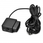 OBD Step-down Cable for Car Camcorder / GPS + More - Black (350cm)