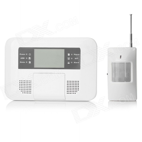 4-Wired 10-Wireless Zone Security Burglar GSM Alarm System Kit - White