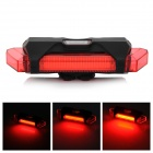 100lm 6-Mode Red Light LED Warning Tail Lamp - Red + Black