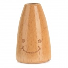 KA-14-00013 Smily Wooden Toothpick Stand Holder - Wood Color