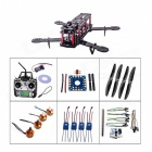 Mini Carbon Fiber QAV250 R/C Quadcopter w/ Motor ESC Flight Controller Combo - Black + Blue