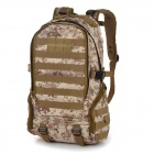 Outdoor Molle Military War Game Nylon Tactical Shoulders Bag Backpack - Tan (35L)