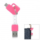 Portable Key Ring Style USB to Micro 5-Pin Charging Data Cable for Samsung / Xiaomi / HTC (7.4cm)