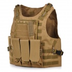CS War Game Military Nylon Body Protector Molle Carrier Tactical Vest - Tan