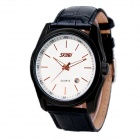 SKMEI 1003 Men's 30m Waterproof Analog Quartz Watch w/ Calendar - Black + Rose Gold (1 x SR626SW)