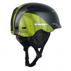 Moon MOM-20 Protective Outdoor Light Helmet for Skiing - Black + Green (M)