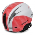 Moon MOM-20 Outdoor Light Helmet for Skiing - White + Red (L)