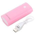 DIY USB 5V Anti-shortcircuit Power Bank Case + Circuit Board Set for 2 x 18650 - Pink
