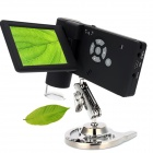 "Digital 3.0"" LCD 20X~300X 5.0MP Microscope w/ 8-LED / TF / Stand - Black (US Plug)"