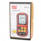 "BENETECH GM1312 2.4"" LCD Thermocouple Thermometer - Red + Black (3 x AAA)"