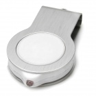 Mini 360 'rotary 8GB USB 2.0 flash drive w / luz LED - branco + prata