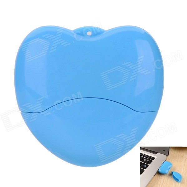 Heart Shaped USB 2.0 Flash Drive - Blue (16GB)