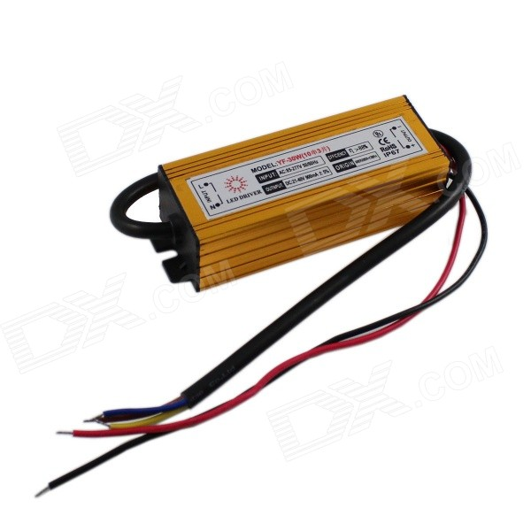 YF-30W External Waterproof 30W LED Power Driver - Golden (85~277V)
