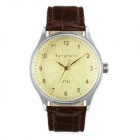Genuine Bergmann 1951 Classic Men's Watch - Brown + Light Yellow