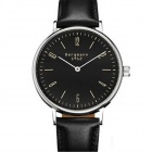 Genuine Bergmann 1912 Classic Men's Leather Strap Analog Watch - Black