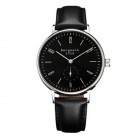 Genuine Bergmann 1912 Classic Men's Watch with Second Hand - Black